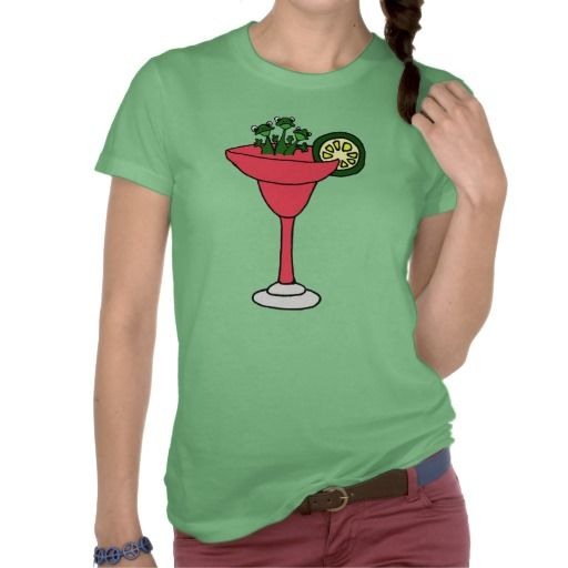 Frogs in Margarita Glass Tshirts #frogs #margaritas #funny #shirts And www.zazzle.com/tickleyourfunnybone*