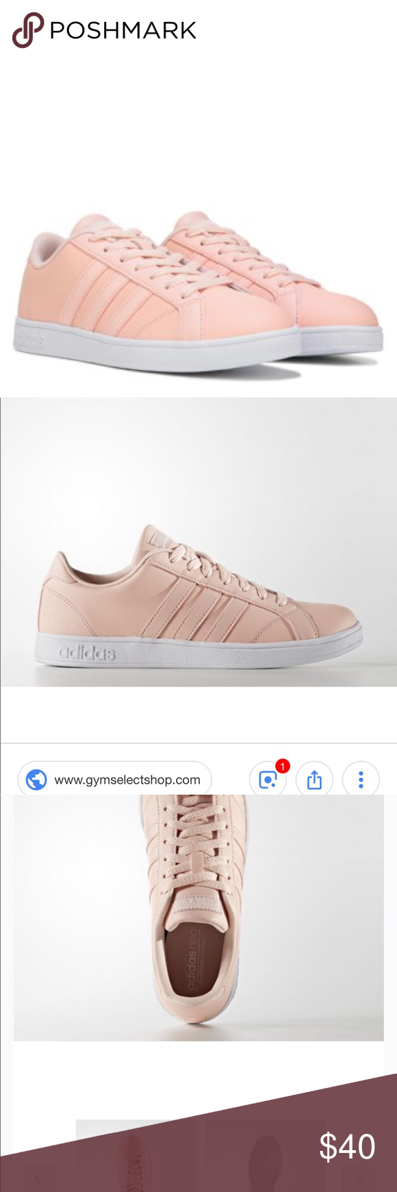 Adidas Neo Comfort Footbed Baseline Sneakers These are trace pink ...