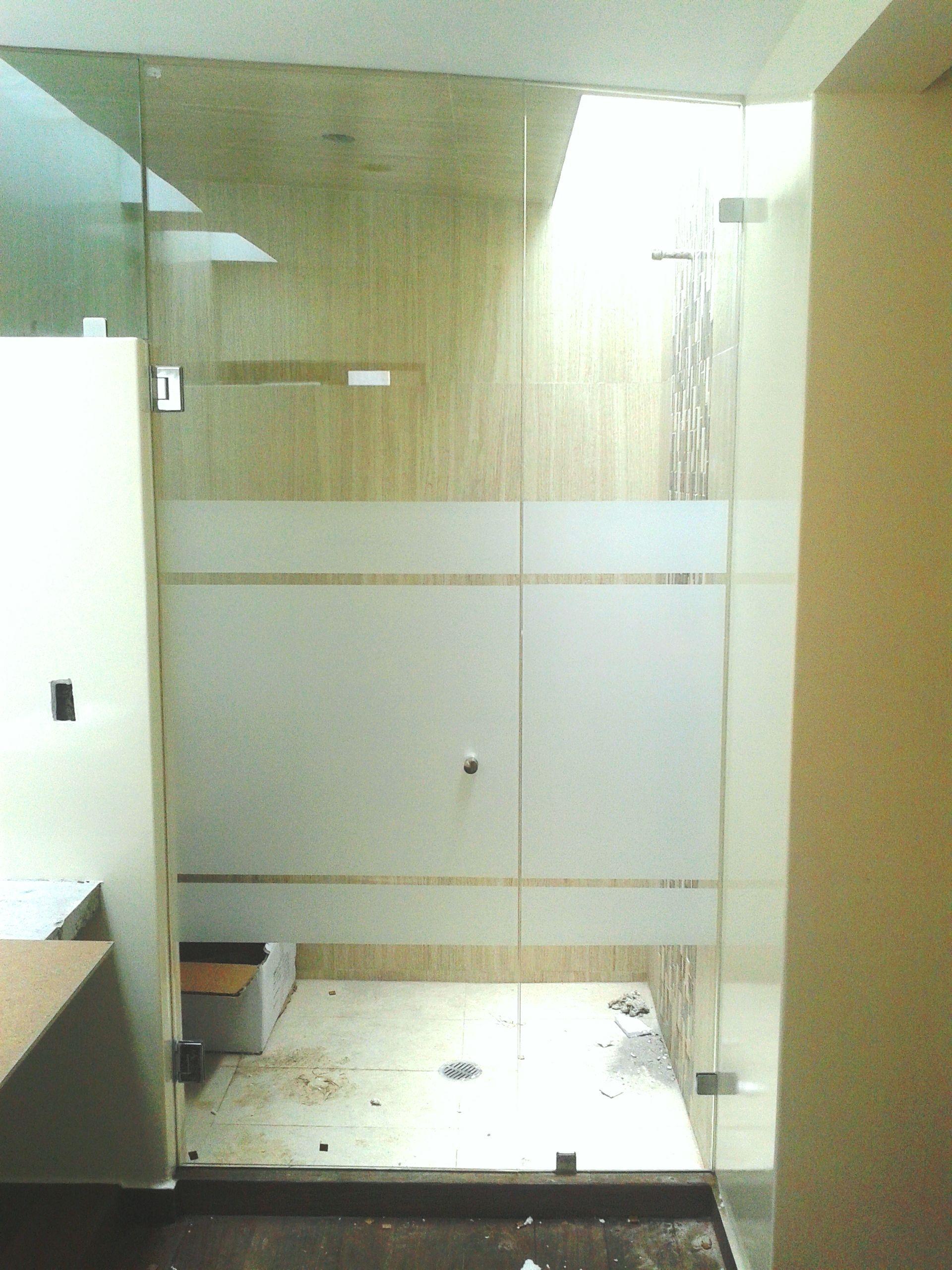 Cancel vidrio templado con esmerilado puerta shower for Puertas de cristal templado