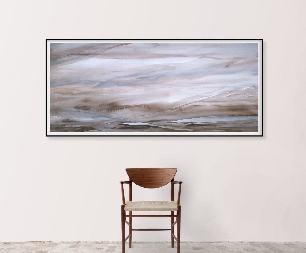 Original Abstract Landscape Painting Horizontal Wall Art Extra Etsy In 2020 Abstract Landscape Painting Landscape Paintings Horizontal Wall Art
