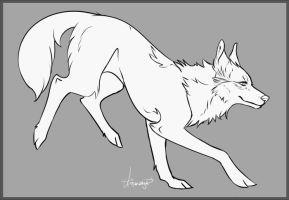 Photo of FREE Wolf Linearts by Aviaku on DeviantArt