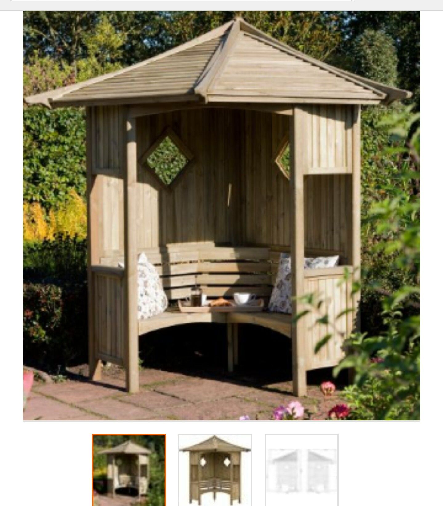 B&Q arbour is on my wishlist. Perfect for a quiet, sunny corner ...