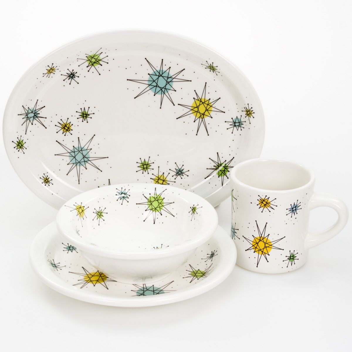 Franciscan Style Dinnerware Set Perfect For A Retro