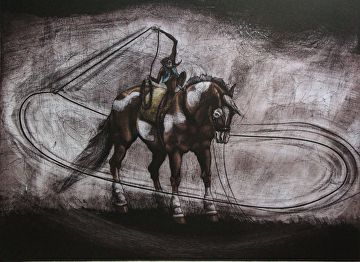 My Pony, My Space by DeborahMae Broad Etching ~ 18 x 24