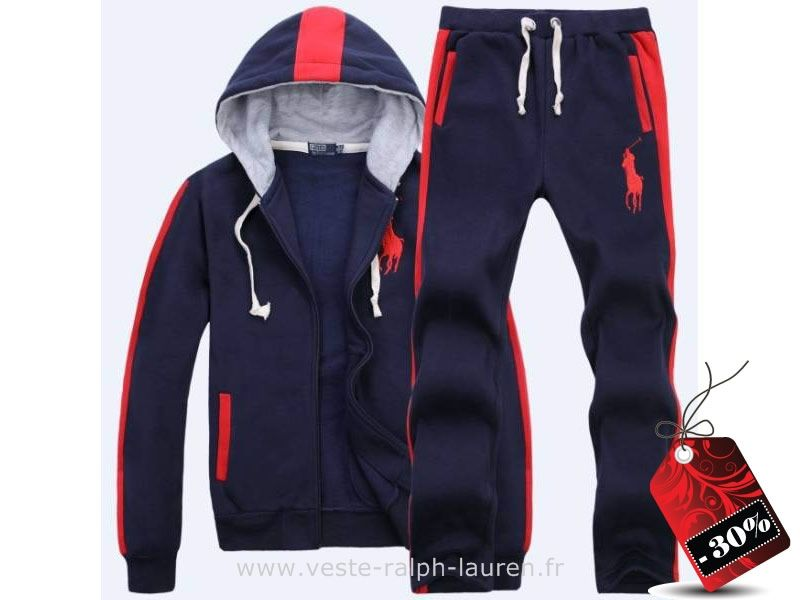 officiel survetement hommes Ralph Lauren 2013 mode casual liste pas cher  bleu rouge Ralph Lauren Usa fa6845d08fd