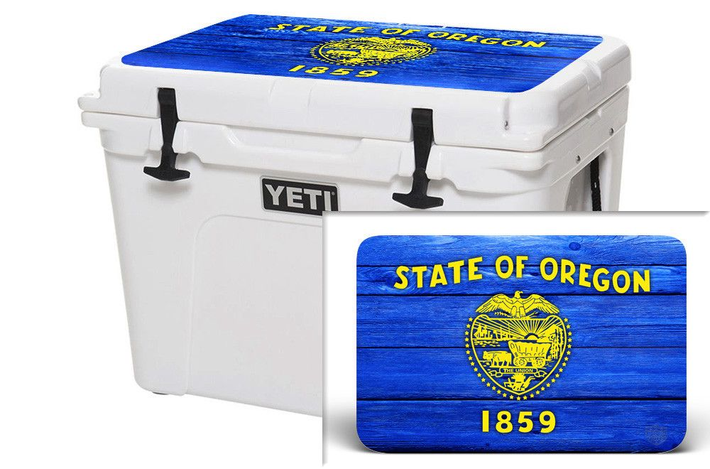 Yeti 20 Qt Cooler Ice Chest Graphics Or Flag Wood Grain Custom Vinyl Decal Cooler Accessories Pelican Cooler