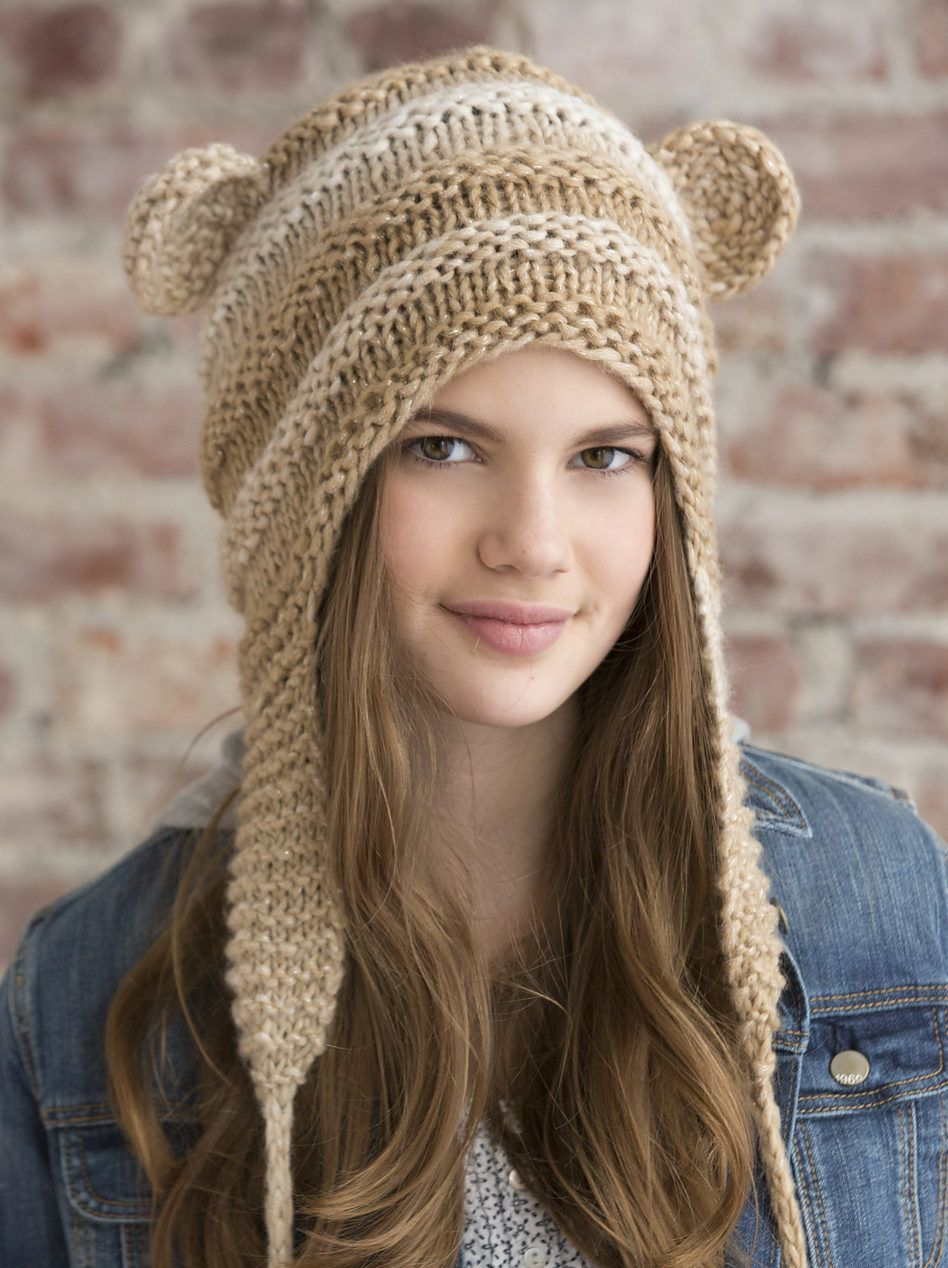 Free Knitting Pattern for One Skein Teddy Love Hat - This one skein ...
