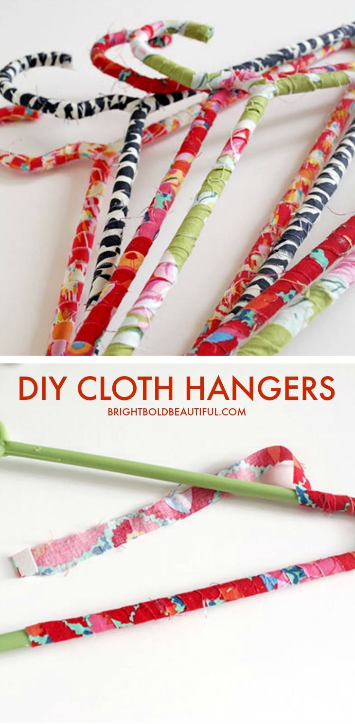 Click through for easy tutorial. Wire Hanger Crafts ...