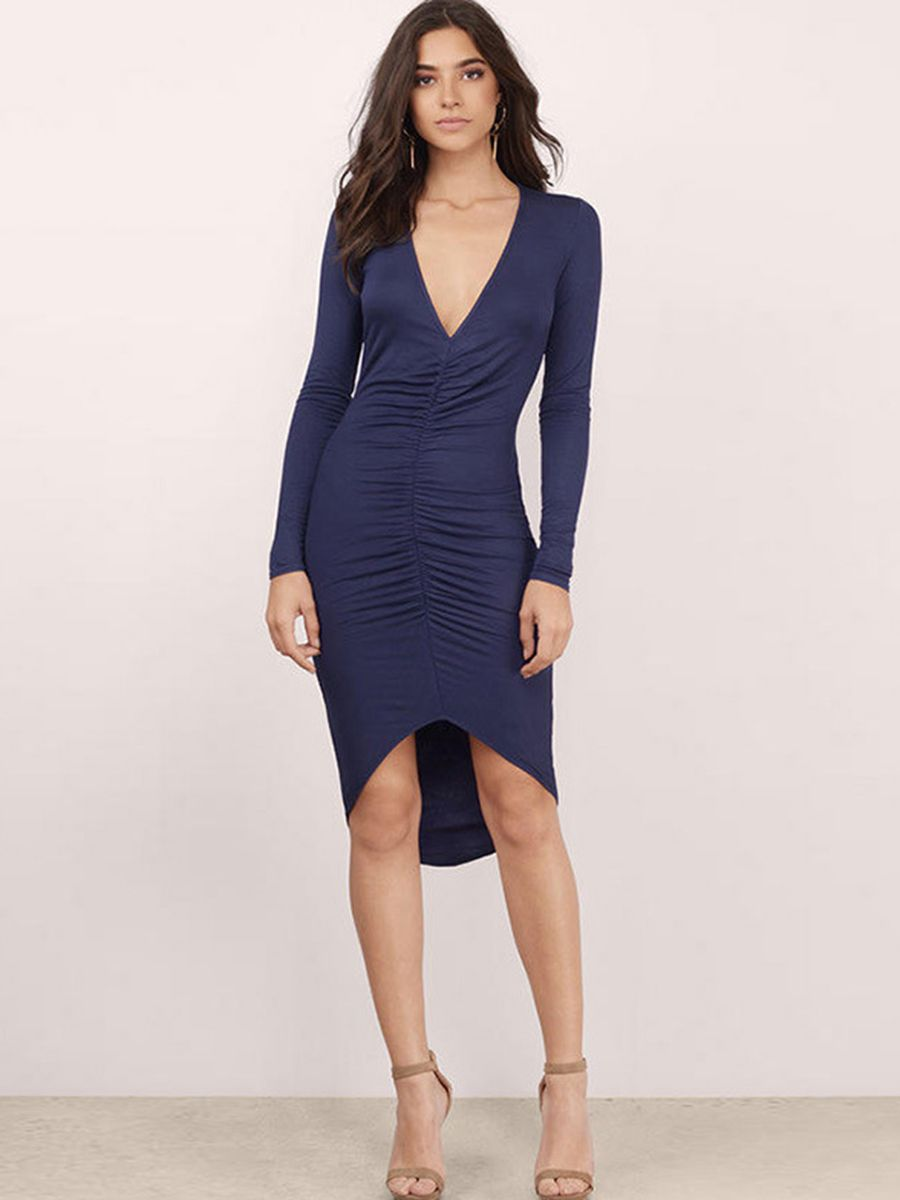 Shoespie V Neck Asymmetric Long Sleeve Bodycon Dress Stretchy Bodycon Dress Bodycon Dress Casual Bodycon Dress Parties [ 1200 x 900 Pixel ]