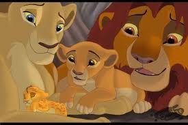 Nala and Simba show Kiara her baby brother Kopa
