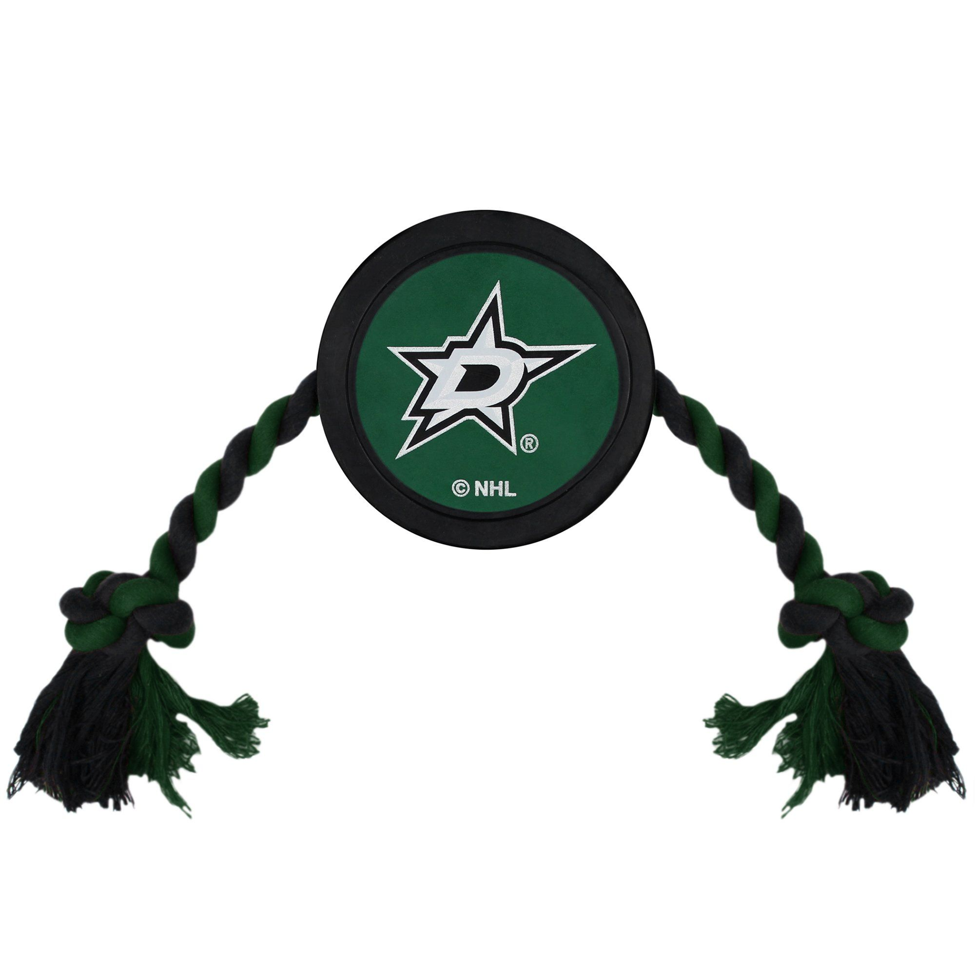 Pets First Dallas Stars Hockey Puck Toy for Dogs, XLarge