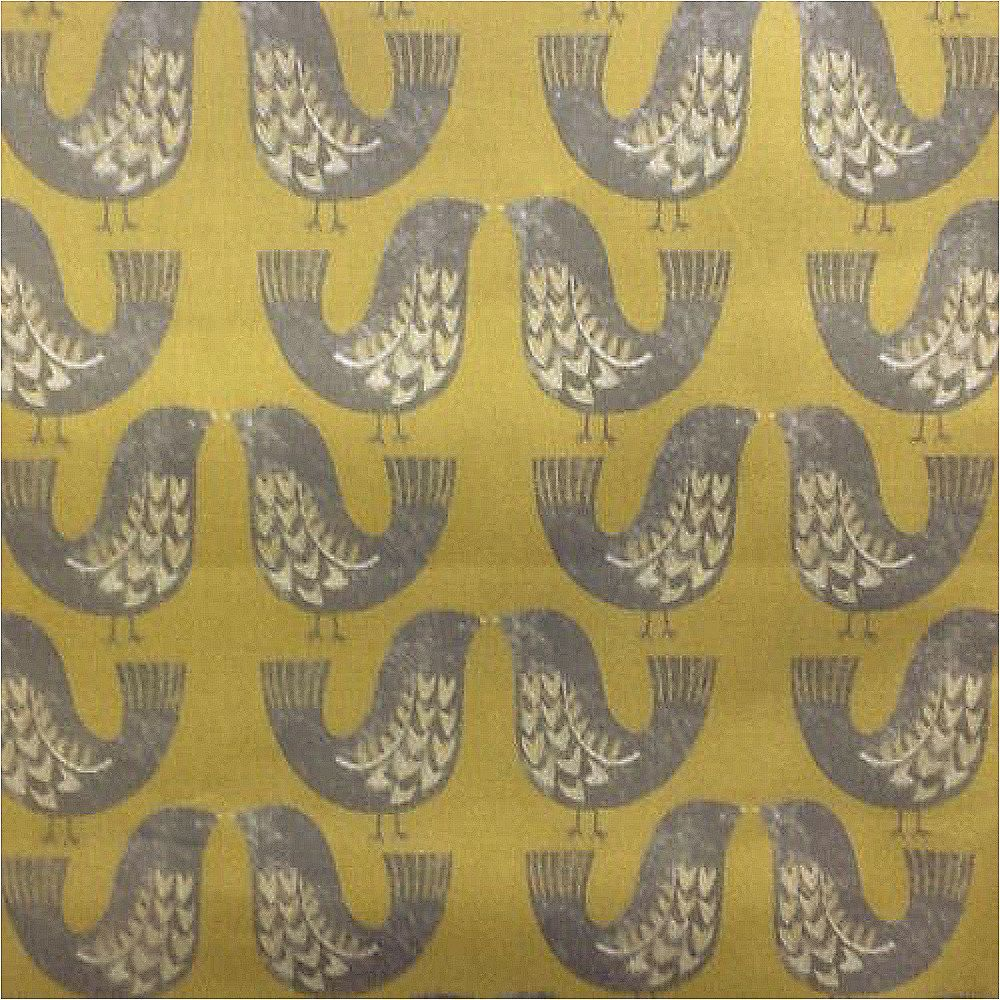 iLivScandi Birds Nordic 100/% Cotton Print Curtain Blind FabricMustard
