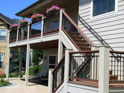 Best Deck Stairs Layout Colors Metal Railings Support 400 x 300