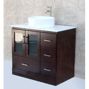 I Like This Concept Of Mostly Drawers And A Small Cabinet Solid Wood Cabinet Instead Of Glass 36 Bathroom Vanity Unfinished Bathroom Vanities Bathroom Vanity