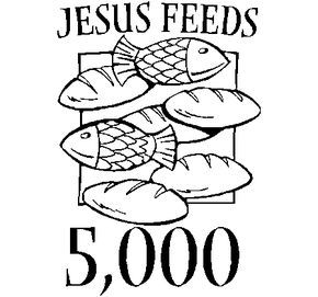 Free Coloring Jesus Feeds 5000 Page With Pages