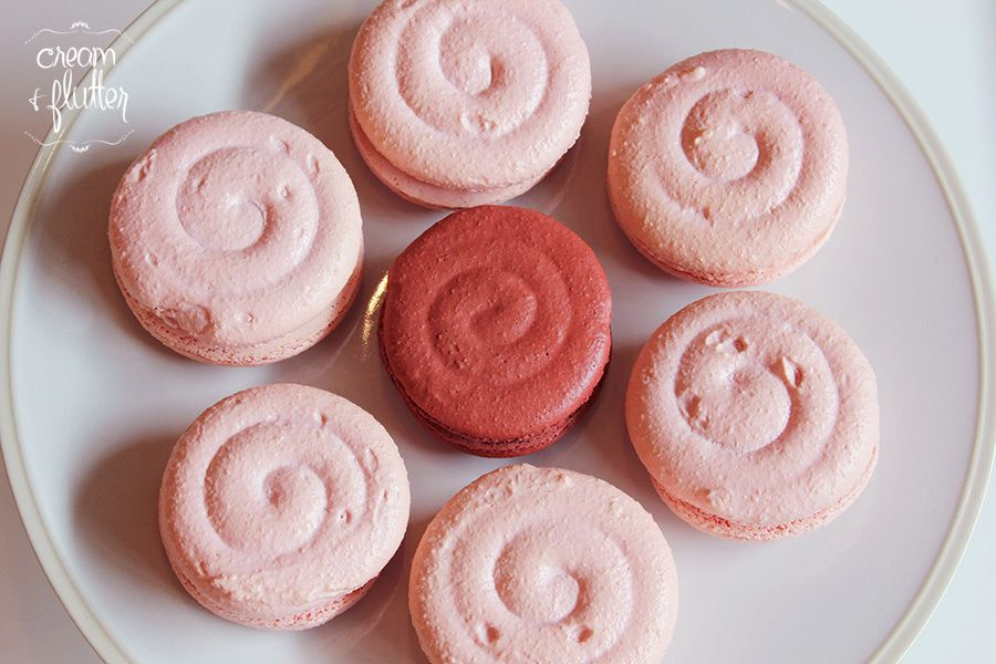 Pink Pinwheel Macaron cookies... IDK the flavor though... But they look good!