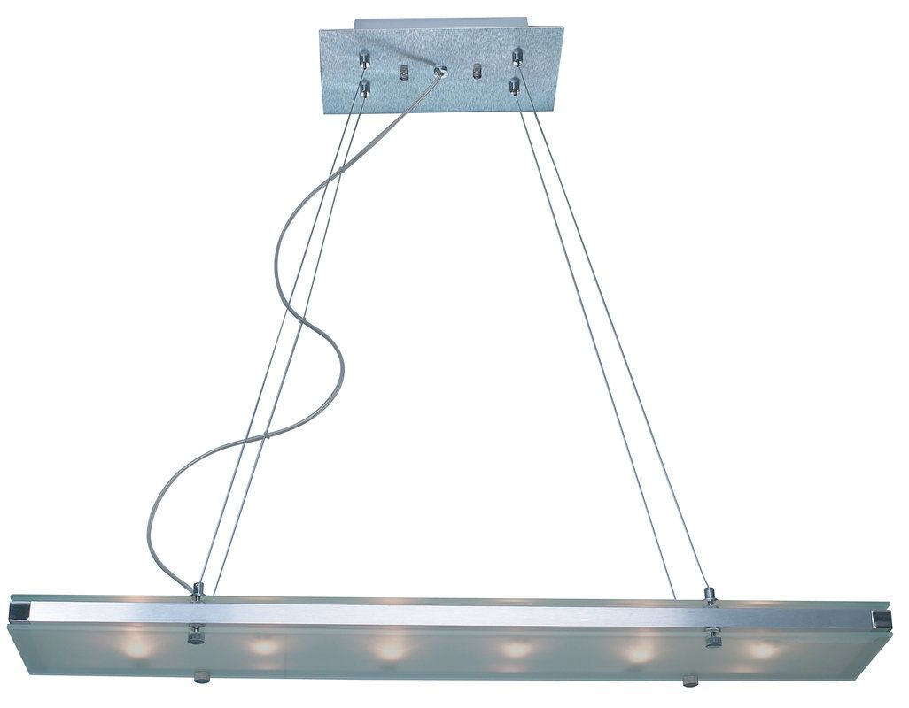 View the Trend Lighting TP4336 BRUSHED ALUMINUM Linear Chandelier from the Plano Collection at LightingDirect.com.