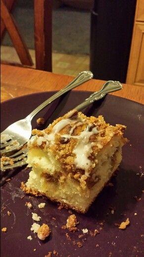 Home made apple coffee cake