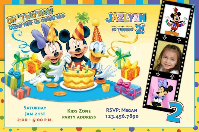Mickey Mouse Clubhouse Invitations Personalized Cartoon Birthday – Personalized Birthday Party Invitations