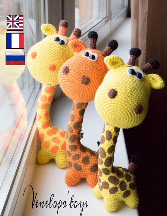 Amigurumi crochet pattern, crochet giraffe pattern amigurumi PDF ...
