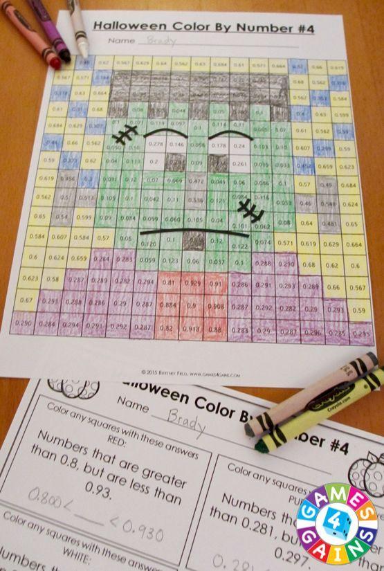 5th Grade Halloween Activities: 5th Grade Halloween Math ...