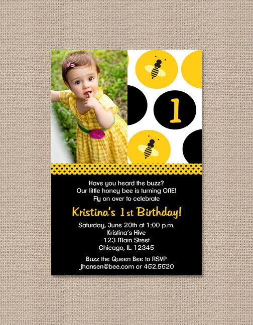 Custom listing for dana hayes bumble bee birthday bumble bees and bumble bee birthday party invitations by honeyprint on etsy 1500 filmwisefo Images