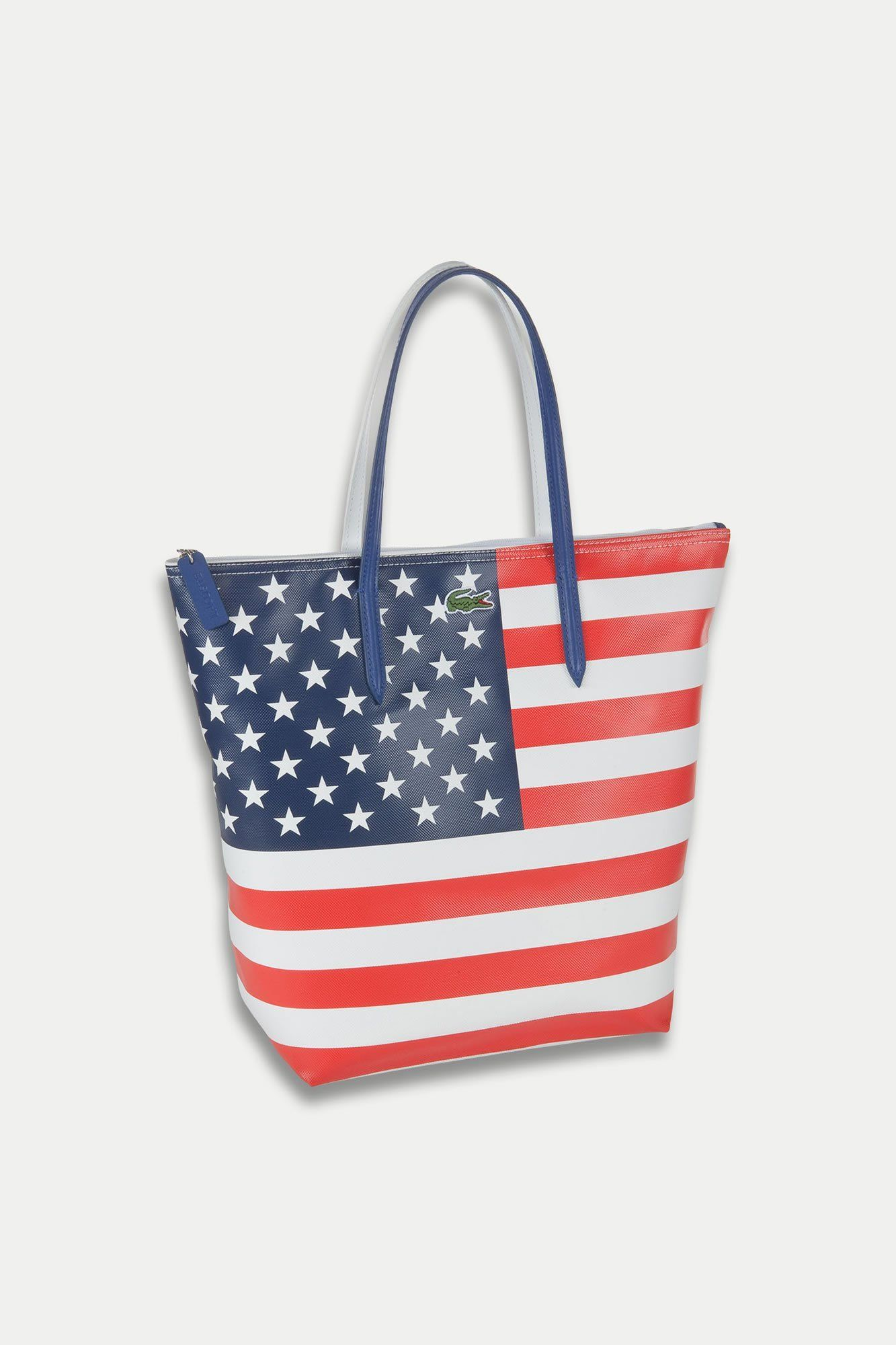 Lacoste American Flag bag, $125 #America   god bless America   Pinterest