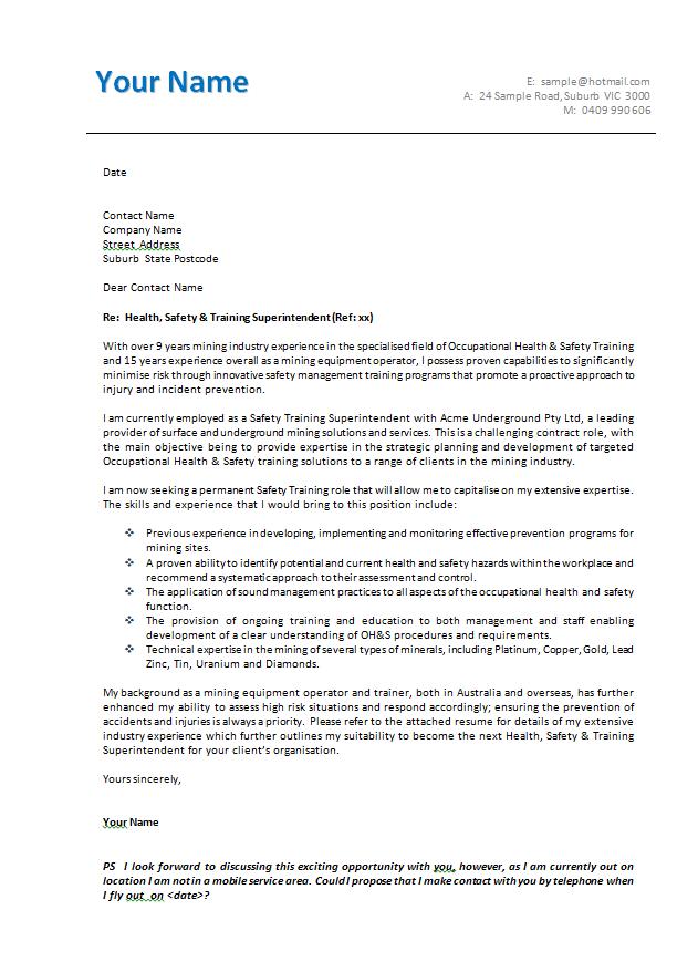 letter template australia  Cover Letter Template Australia | Resume cover letter ...