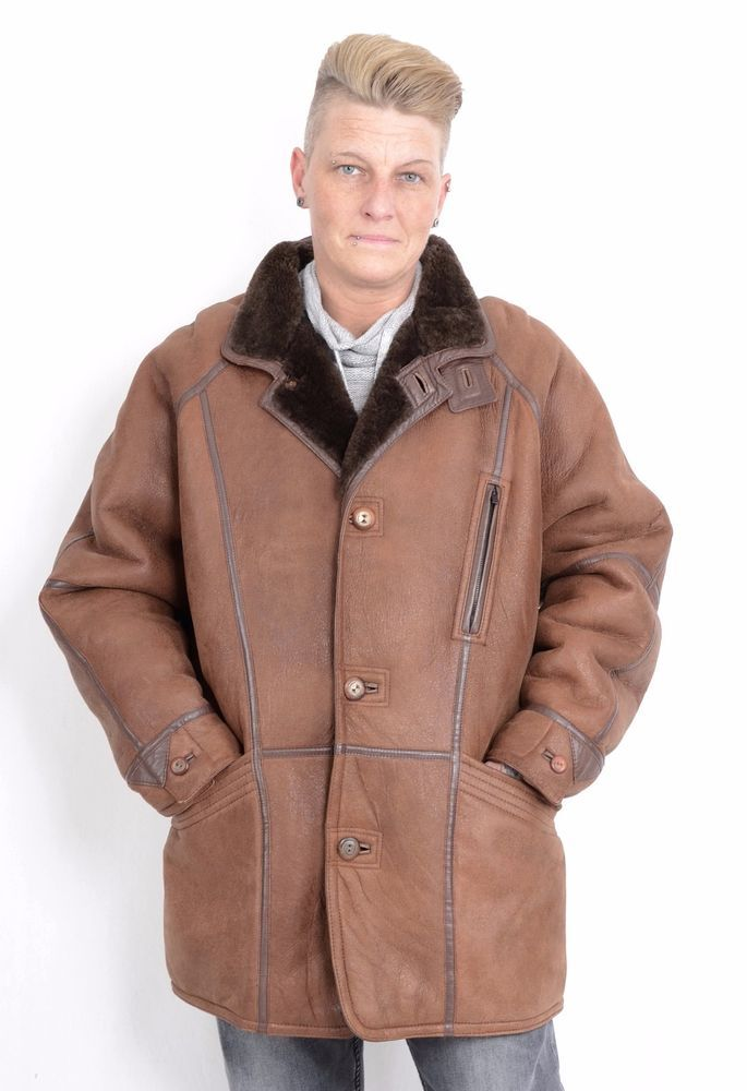 US766 Christ Men Leather Lambskin Shearling Sheepskin fur Jacket  Lammfelljacke  Christgermany  BasicJacket 1bb44905e6