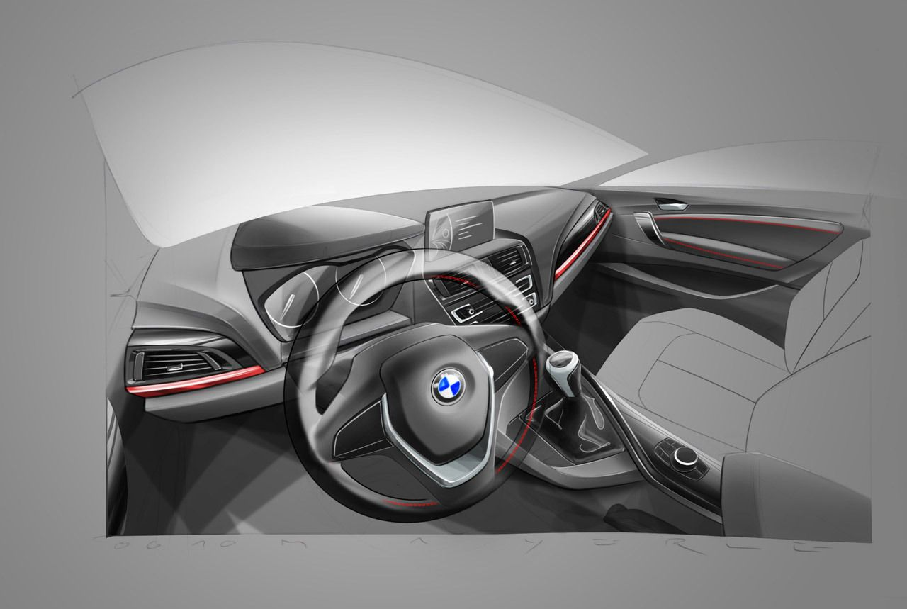 BMW 2 Series interior sketch