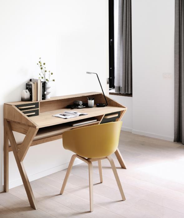 Origami Desk 2 Colors In 2021 Desk Design Ethnicraft Furniture Furniture