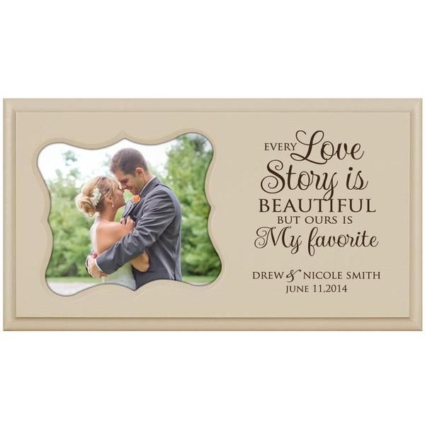 Personalized Wedding or Anniversary Photo Frame - Every Love Story Is Beautiful
