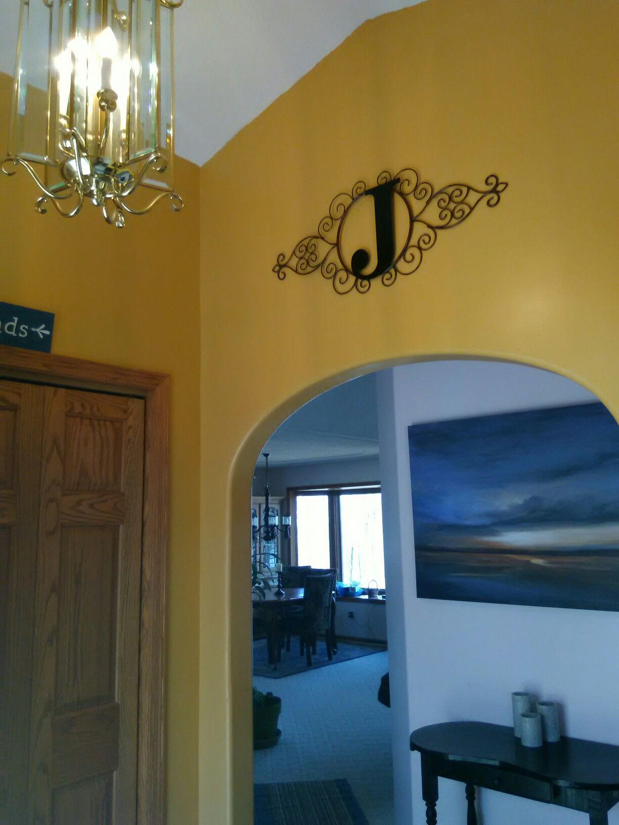 Entryway after and our J for Johnson! | Color Place Wood Thrush Gold ...