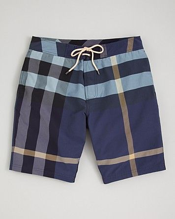 0bd43c7f3d Burberry Brit Laguna Check Swim Trunks | M Swimwear | Swim trunks ...