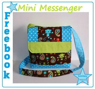 binimey: Freebook Mini Messenger | Nähen | Pinterest | Nähen ...