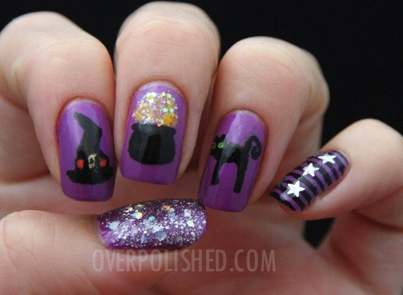 Halloween Nail Art - Halloween Nail Art Halloween Pinterest Witch Nails, Beauty