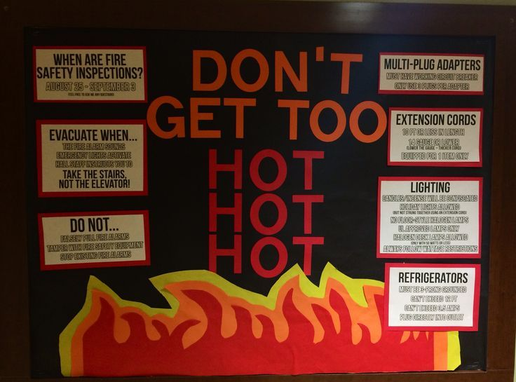 floor on fire bulletin board - Google Search All Things RA - Resident Assistant Job Description