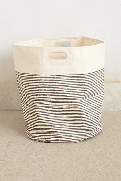 Pencil Striped Canvas Storage Bag Seramik Sepetler Kutular