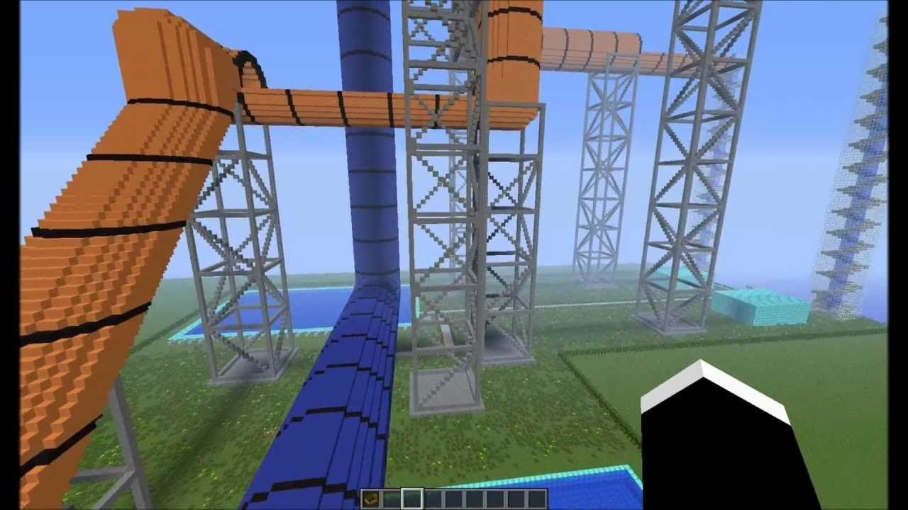 Popularmmos Minecraft The Epic Water Slide Mission Places To Visit Pinterest