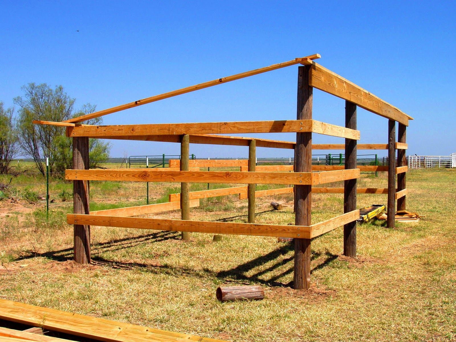 Horse lean to shelter plans pinteres for Horse pole barn plans