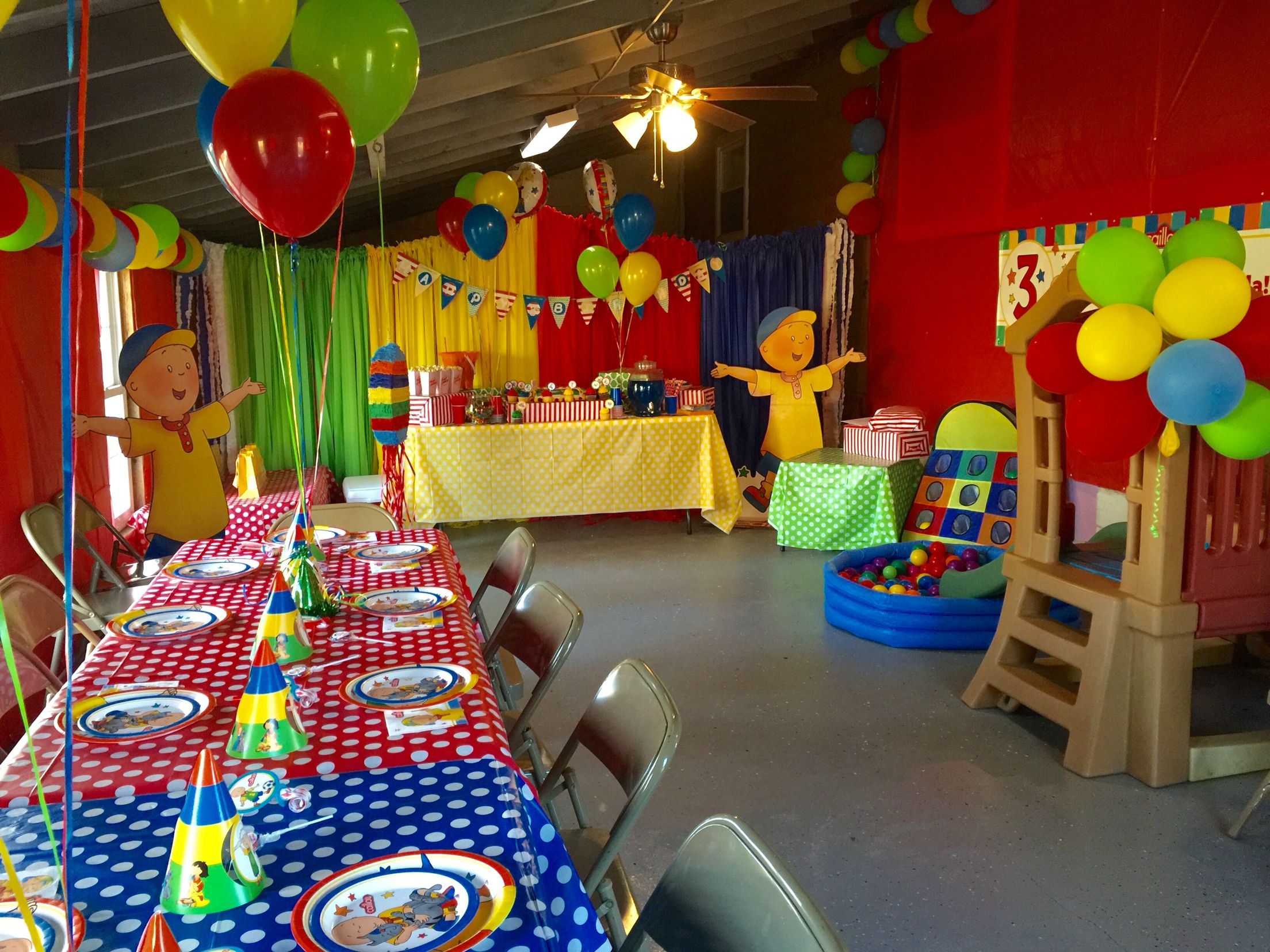 Ellas Caillou Birthday party Pinteres