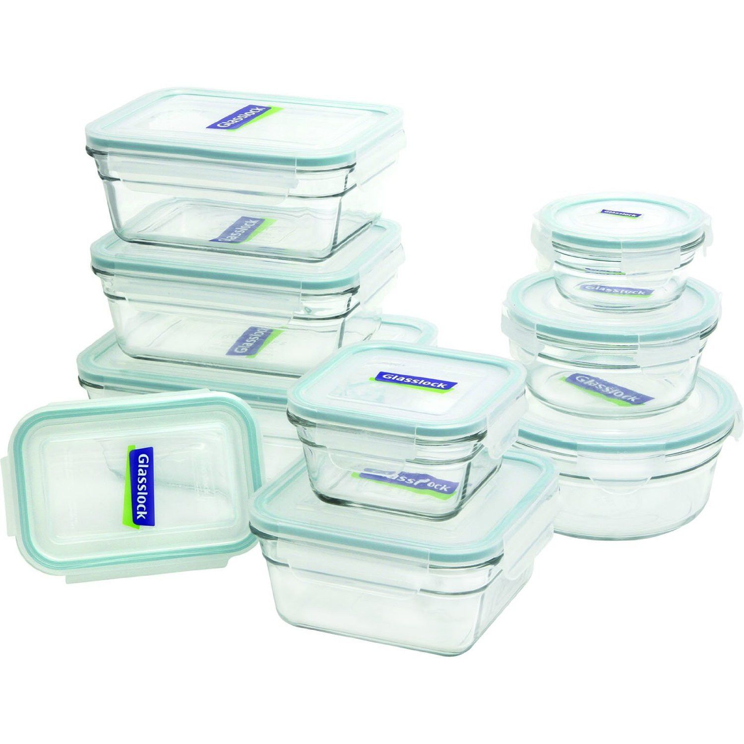 Glasslock Food Storage Container Sets Glasslock 18Piece Food Storageoven Safe Container Settigerfn