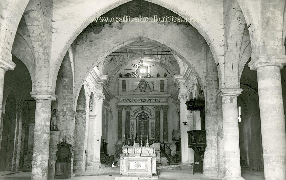 Caltabellotta - La Cattedrale prima del terremoto del 1968.