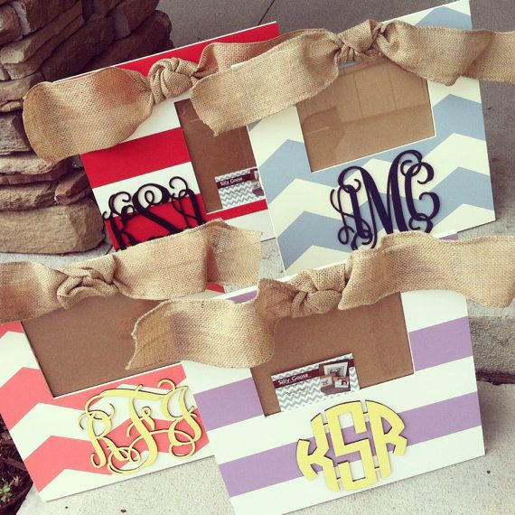 Monogram Frame hand painted and custom - you choose colors | Arts ...