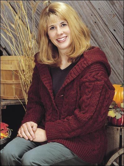 Knitting Pattern For A Hoodie Sweatshirt Cables Pinterest