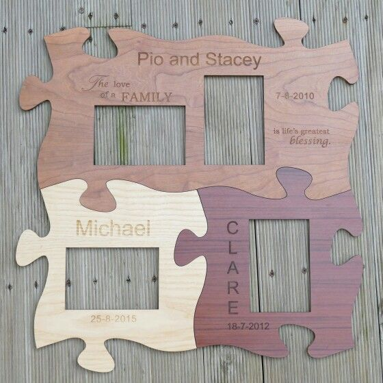 Photo Frame Set Of 4 Engraved Laser Cut Pieces Shown