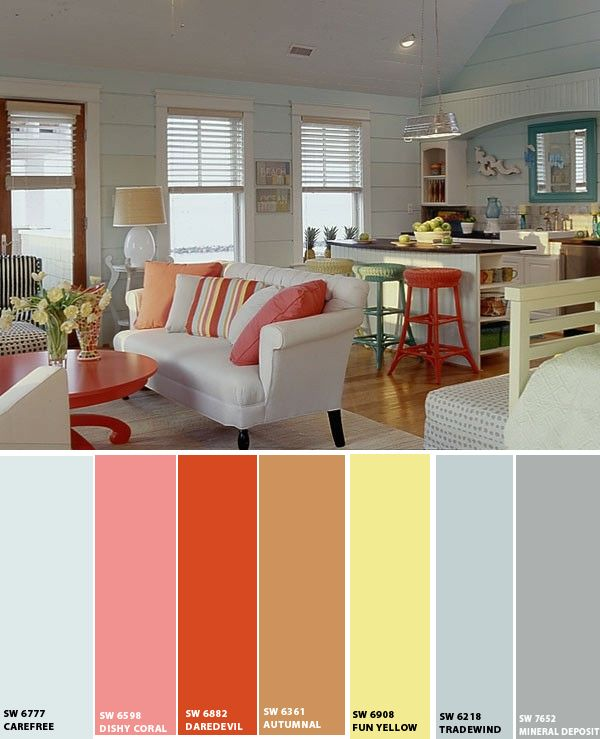 Beach House | House color schemes interior, Paint colors ...