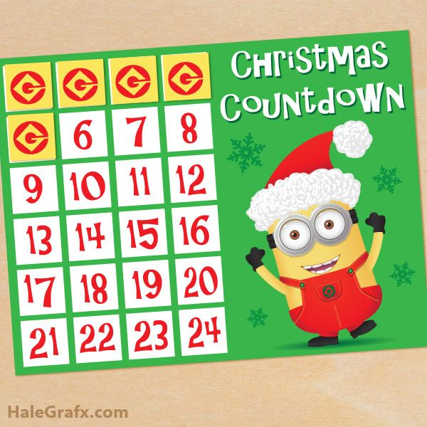 Free Printable Minion Christmas Countdown Activity Please Like Comment And Share 3https Www Fa Minion Christmas Countdown Activities Christmas Countdown