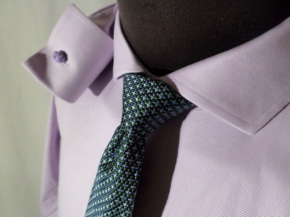 Brooks Brothers French Cuff Shirt 17  37 Spread Collar Non Iron Stretch Lavender #BrooksBrothers
