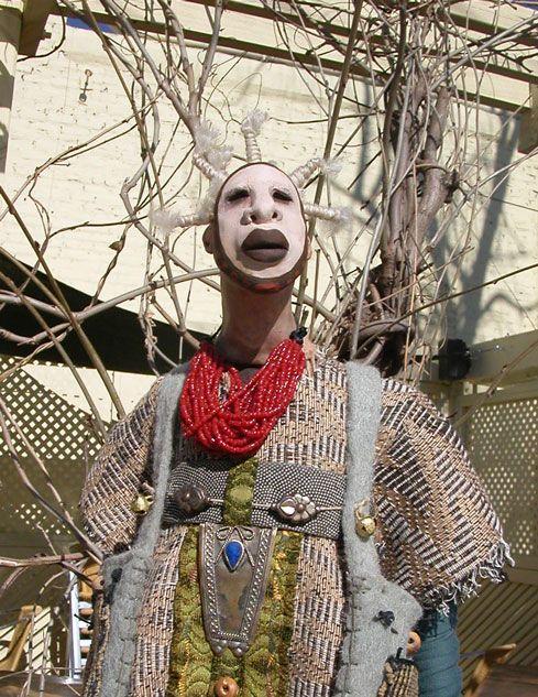 Spirit folk Art dolls, Spirit dolls, Unusual art